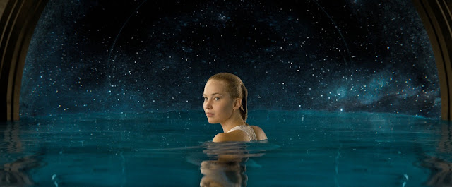 "Jennifer Lawrence in ""Passengers"", a dual Oscar nominee"