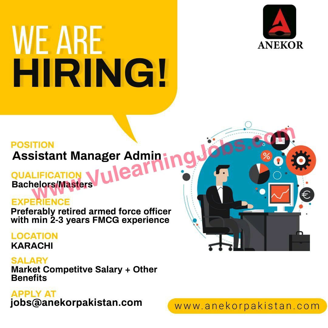 Anekor Pakistan SMC-Private Limited Jobs July 2021 Assistant Manager, SAP Coordinator Latest