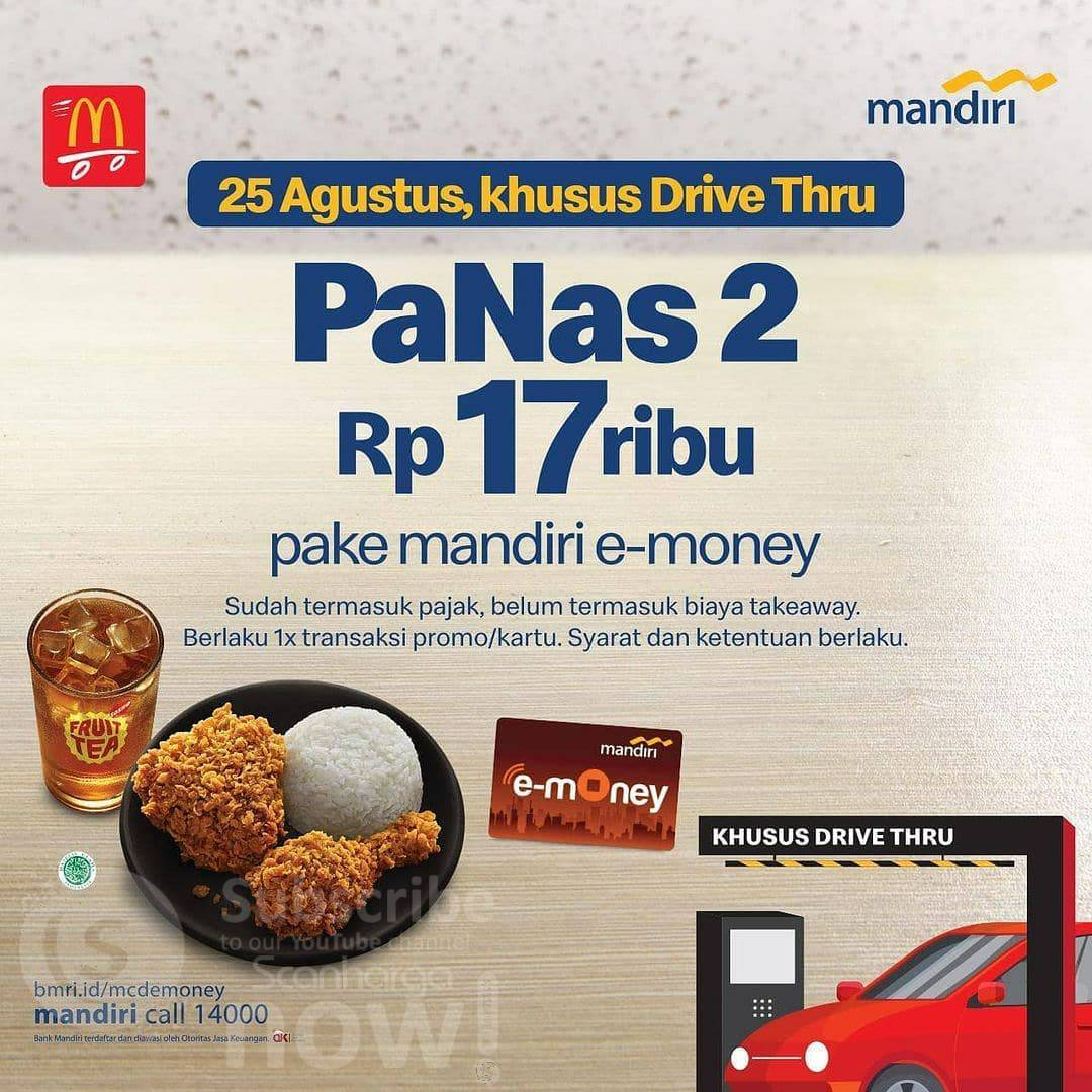 McDonalds Promo PaNas 2 Harga cuma Rp. 17Ribu - Pake Mandiri e-Money