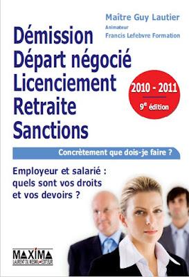 Télécharger Livre Gratuit Démission, départ négocié, licenciement, retraite, sanctions pdf