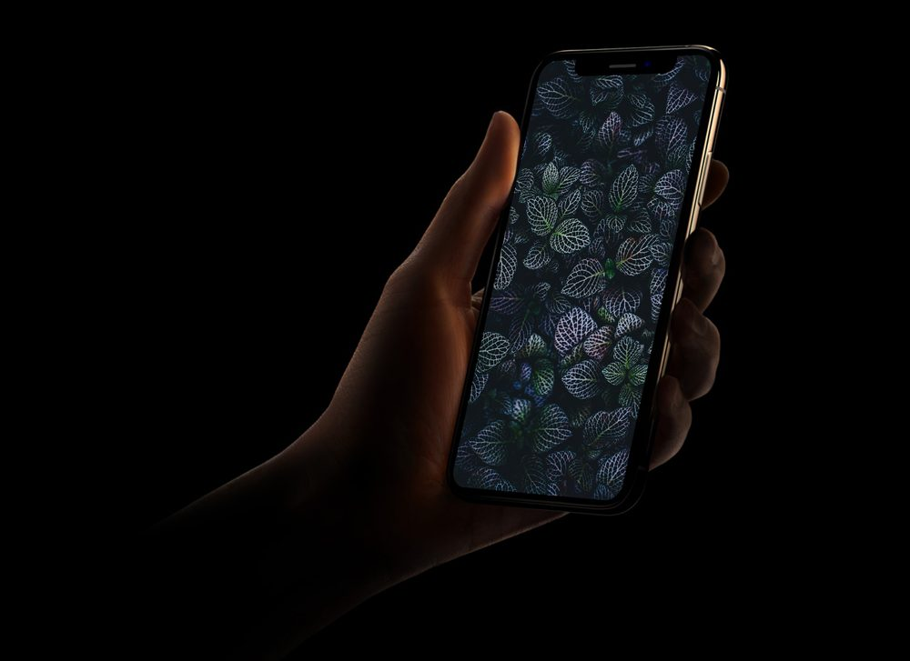 Dark Shade iPhone XS Mockup