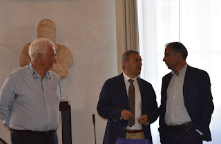 Il commissario Pietro Verna lascia Palazzo Rosciano