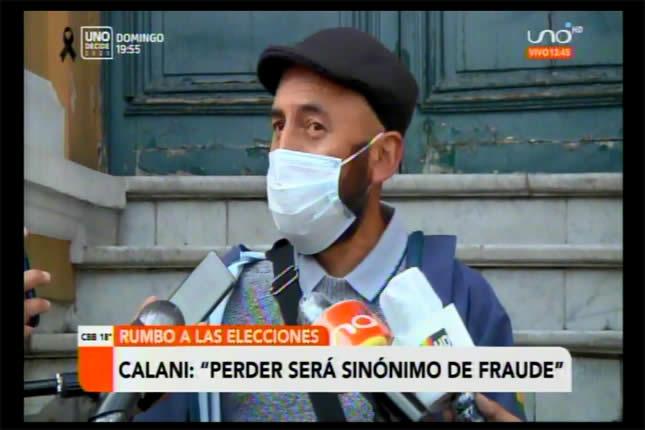 Diputado Calani dice que si no gana el MAS es sinónimo de fraude; podría darse conflictos sociales
