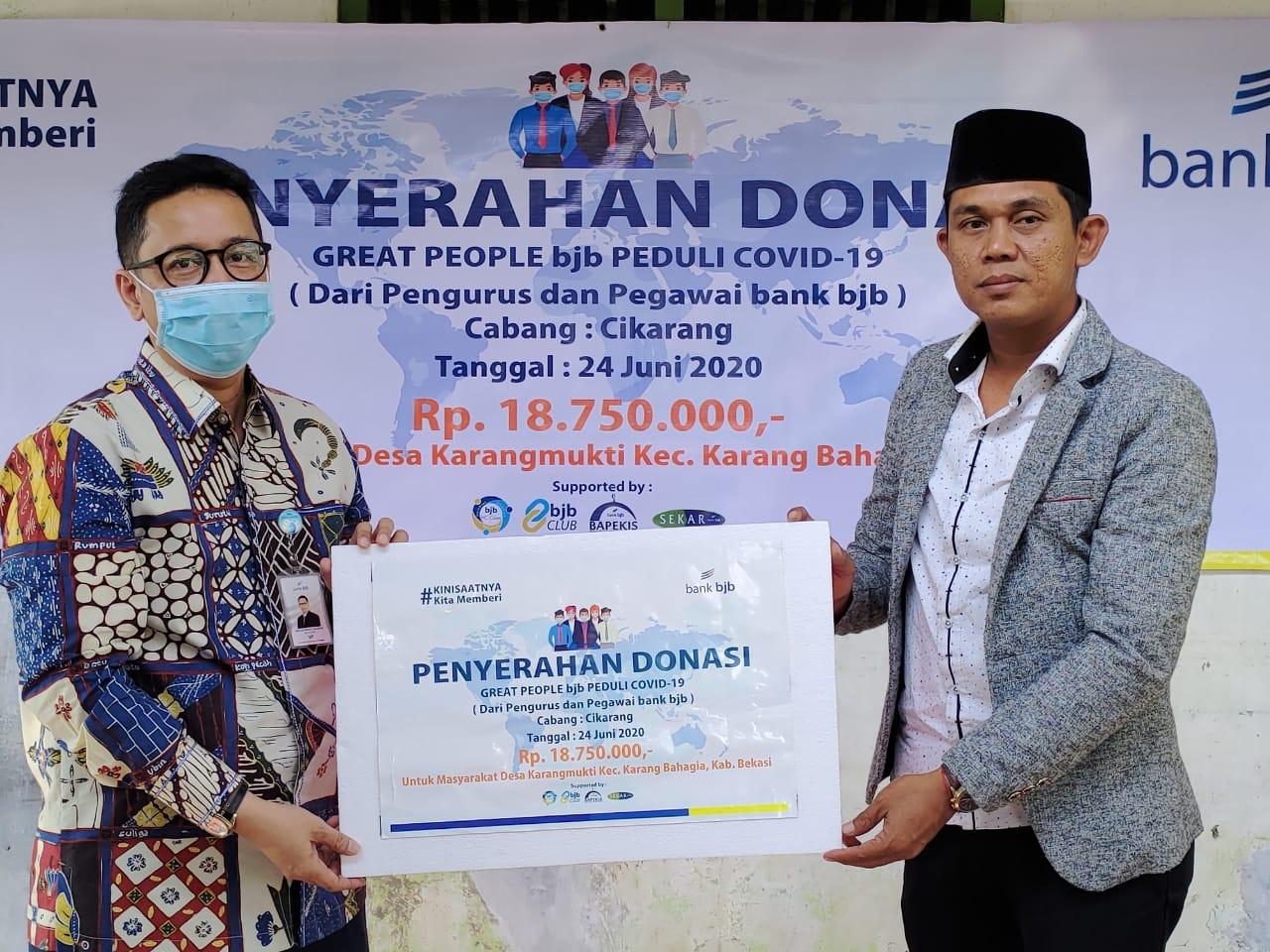 Dampak Covid-19, Bank BJB Cabang Cikarang Berikan Bantuan ...