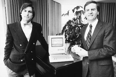 Steve Jobs and John Sculley in 1984