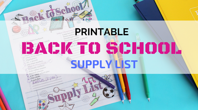 Printable Back to School Supply Coloring Page