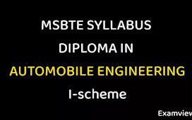 MSBTE Syllabus I scheme PDF | Automobile Engineering all Sem