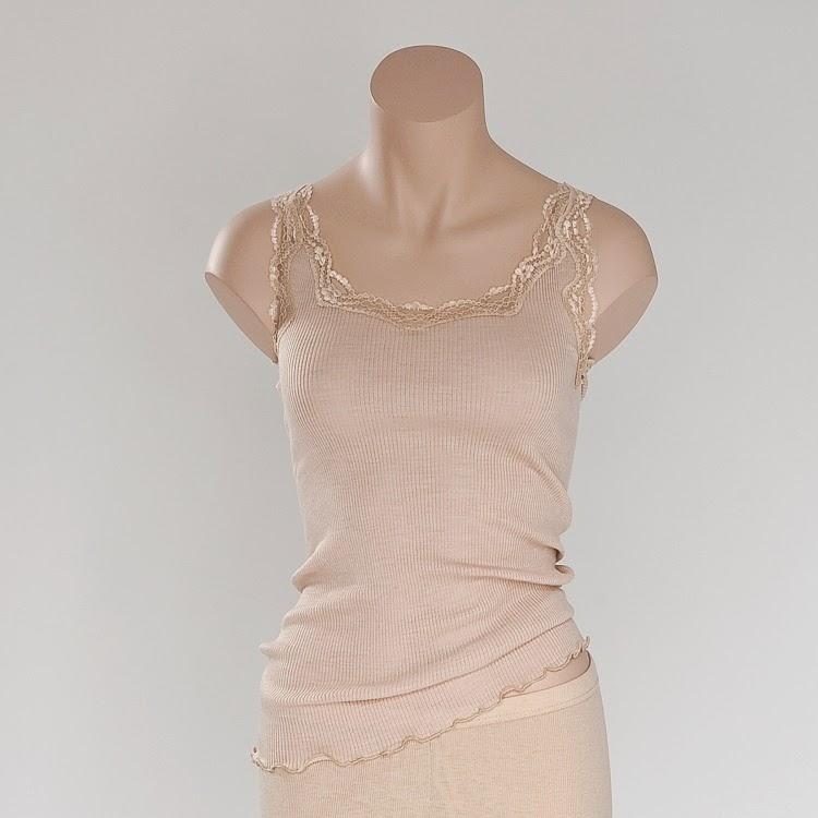 141162fce8b66d Wolle-Seide Unterhemd Boracay hautfarben von Gattina
