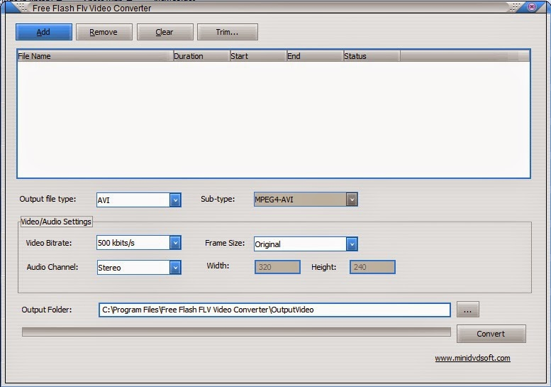 Free Flash Flv Video Converter Interface