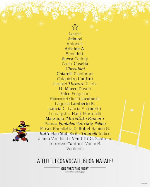 Cartolina di Buon Natale - Old Avezzano Rugby