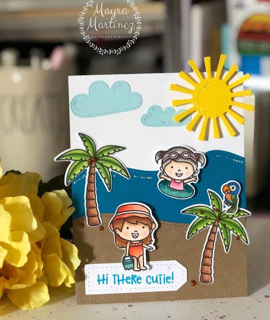 Sunny Studio Stamps: Coastal Cuties Sending Sunshine Customer Card by Mayra Martinez