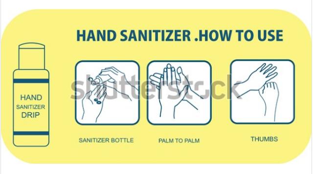 illustration logo hand sanitizer