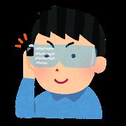 メガネ型コンピューターのイラスト