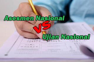 Asesmen Nasional bukan pengganti Ujian Nasional Membandingkan Asesmen Nasional dengan Ujian Nasional Perbedaan AN dan UN