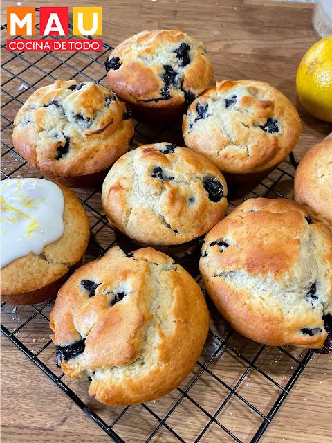 mau cocina de todo muffins blueberry limon yogurt griego receta facil nutritivo