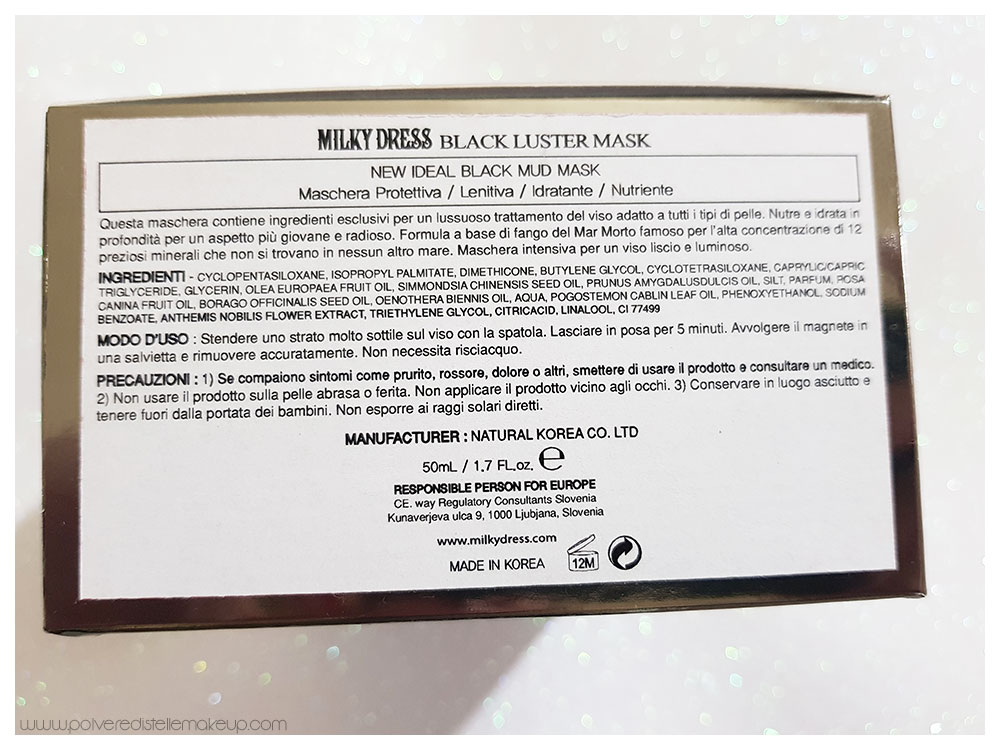 inci Black Luster Mask Milky Dress