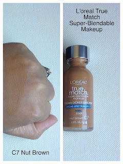 L'oreal True Match Foundation Review C7 Nut brown