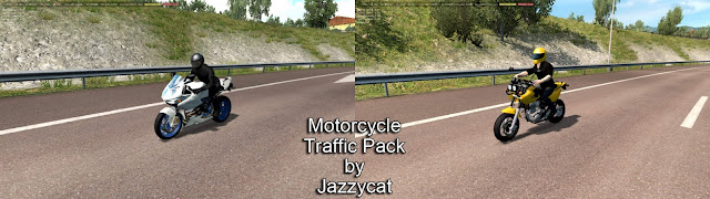 ets 2 motorcycle traffic pack v2.4 screenshots 1, MZ Mastiff, BMW HP2