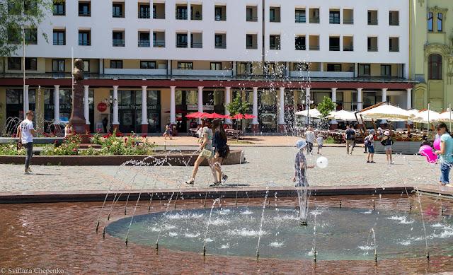 фонтан на Грецькій площі