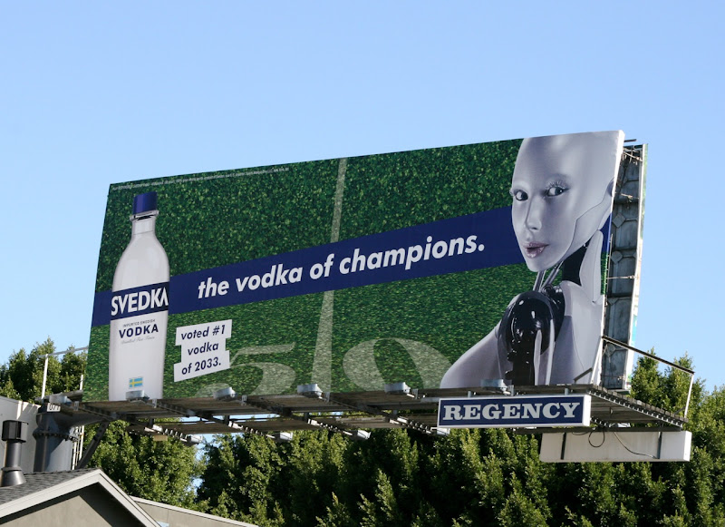 Svedka Vodka champions billboard