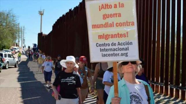 Manifestación conjunta en EEUU y México contra muros en fronteras