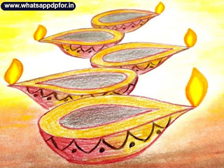 pictures of diwali festival to draw, diya sketch images