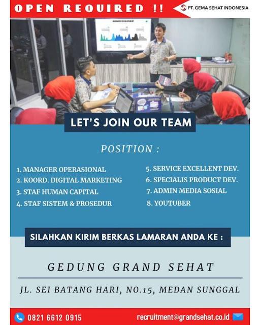 Lowongan Kerja Medan Juni 2021 D3/S1 Segala Jurusan Di PT ...