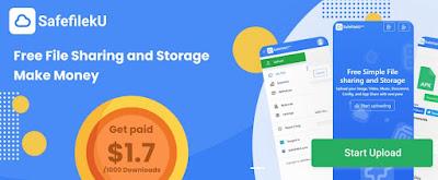 SafefilekU, plataforma de almacenamiento gratuito de archivos con la opción de ganar dinero