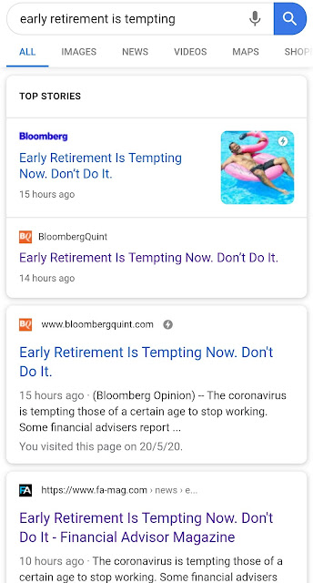 Early Retirement is tempting