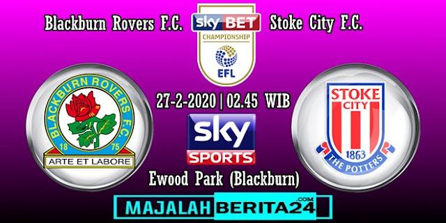 Prediksi Blackburn Rovers vs Stoke City