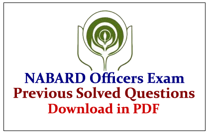NABARD Officers Exam  Download in PDF