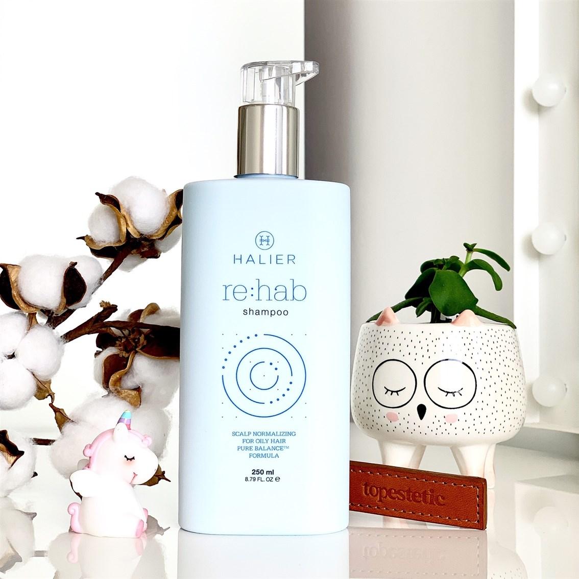 Halier Re:hab szampon normalizujący do włosów przetłuszczających się