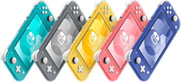 La famille des Nintendo Switch Lite