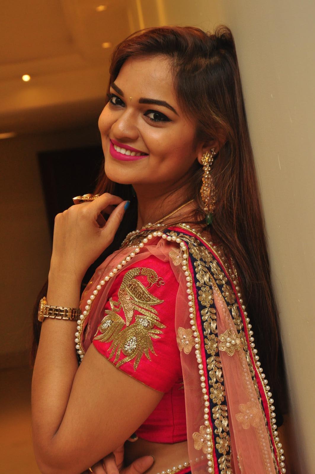 Aswhini latest sizzling half saree pics-HQ-Photo-11