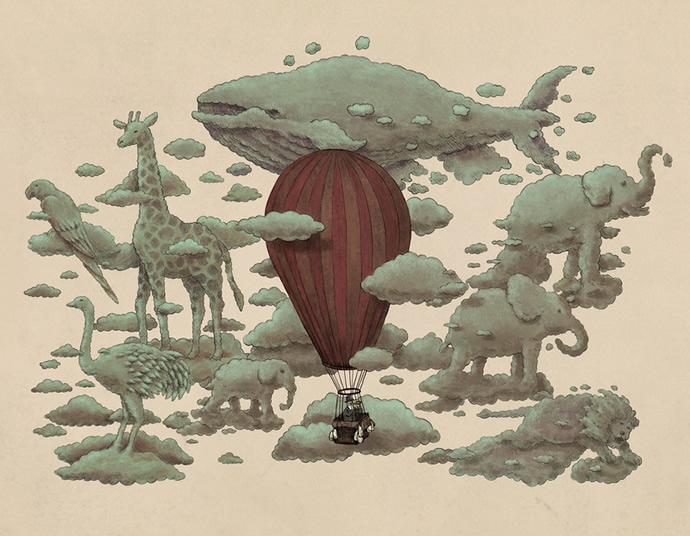 08-Cloud-Animals-The-Fan-Brothers-Surreal-Illustrations-www-designstack-co