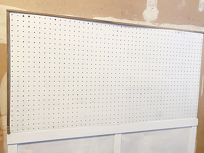 painted old pegboard
