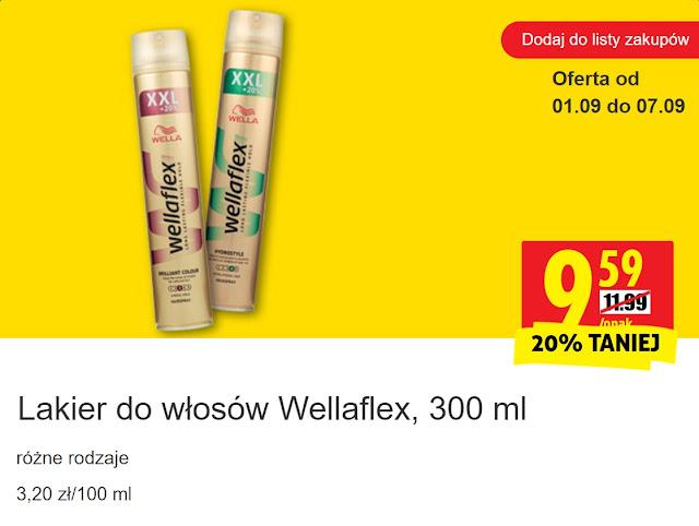 Lakier do włosów Wellaflex - Biedronka, promocja