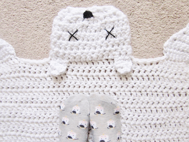 Crochet Polar Bear Rug
