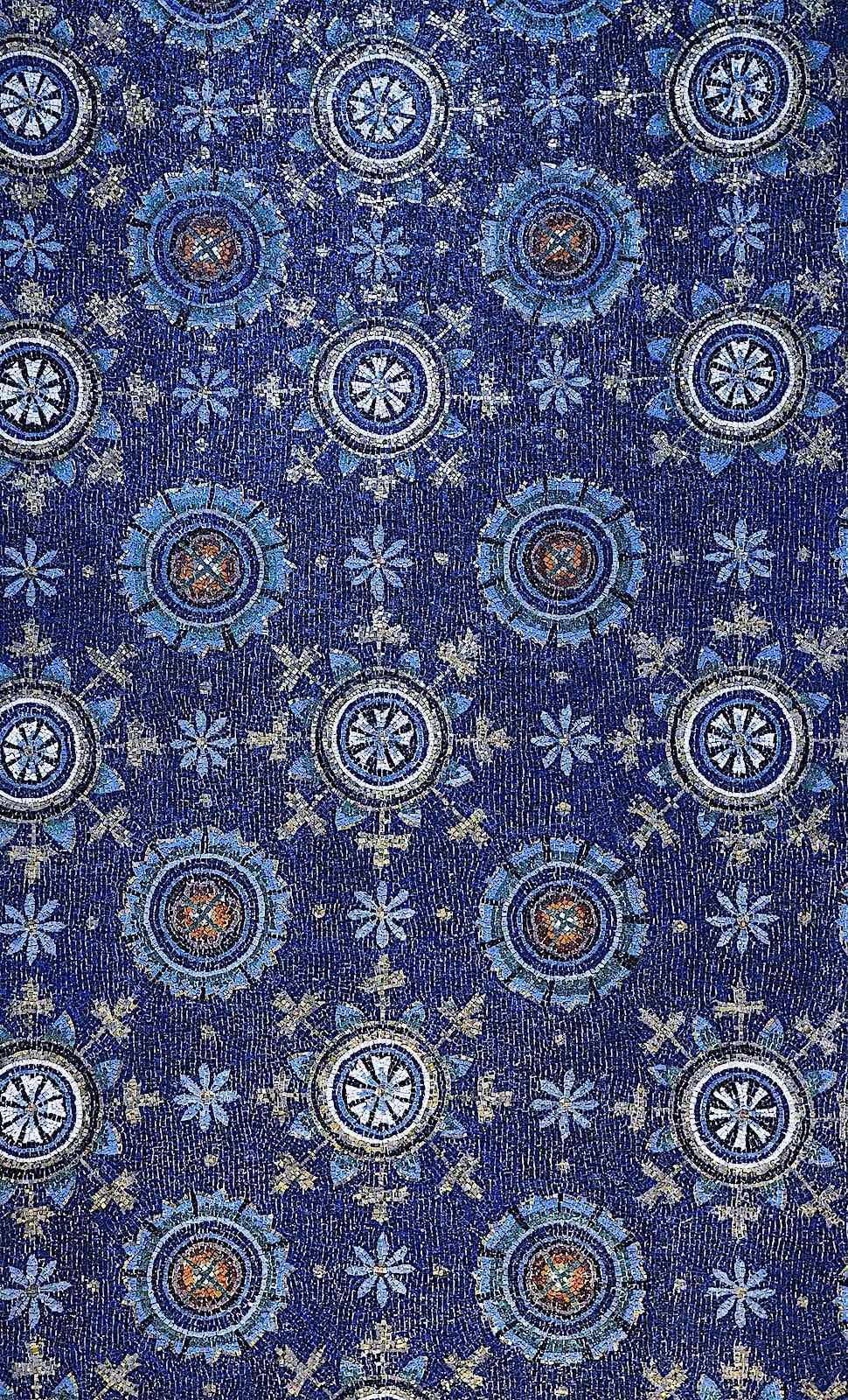 blue mosaic 400s Italy