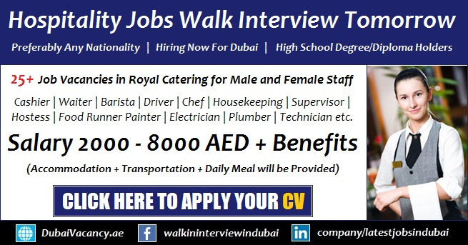 Hospitality Jobs in Dubai 2017