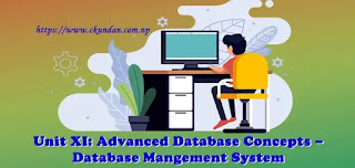 Advanced Database Concepts – Database Management System