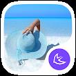 Beach-APUS Launcher theme