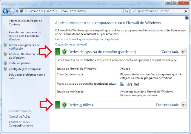 configurando o firewall no windows