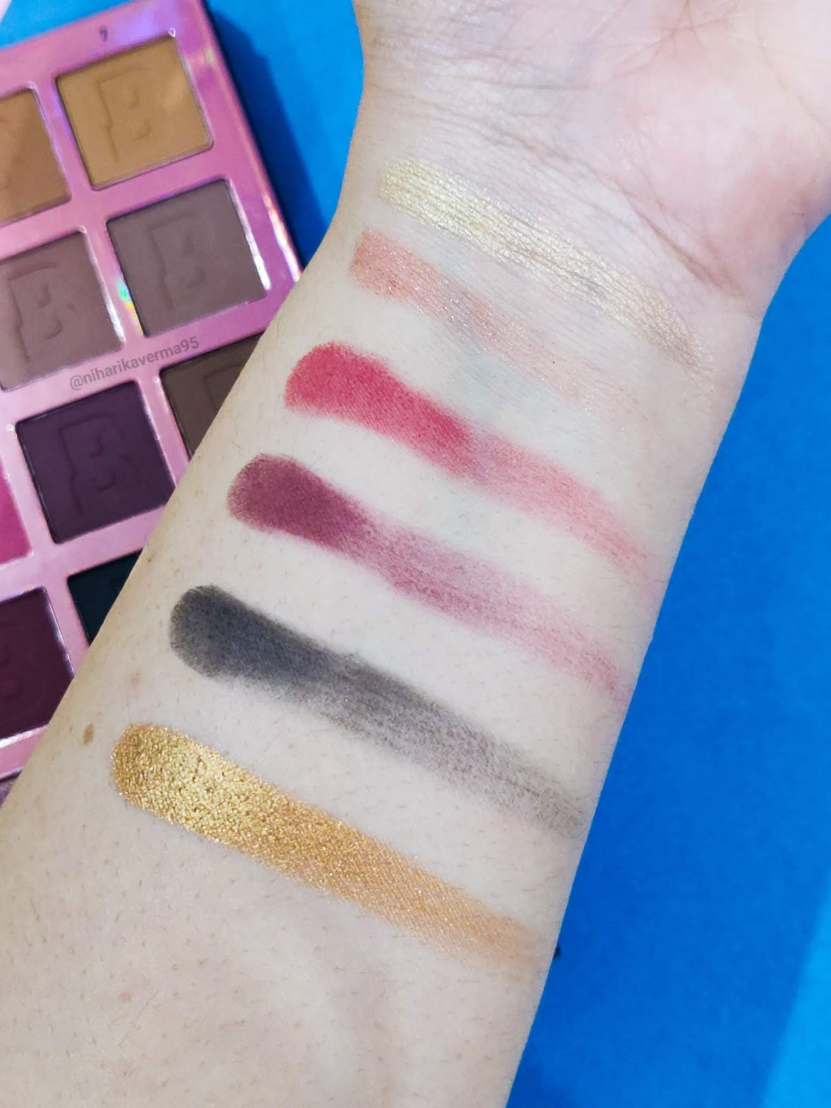 "Top 5 Eye Shadow Palettes in India under Rs.1000/- and their Swatches - Beauty Bay Colour Theory ""ORIGIN"""