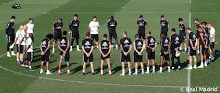 Sentido homenaje de la plantilla del Real Madrid a Xana