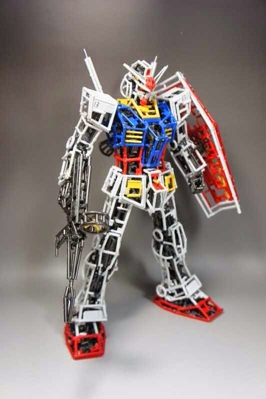 Awesome Gundam Made of Leftover GunPla Runners