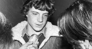 The 17-year-old John Paul Getty III speaks to members of the press following his release