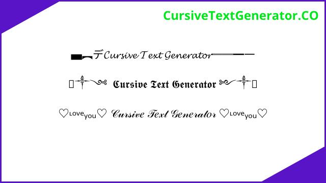 Cursive Text Generator