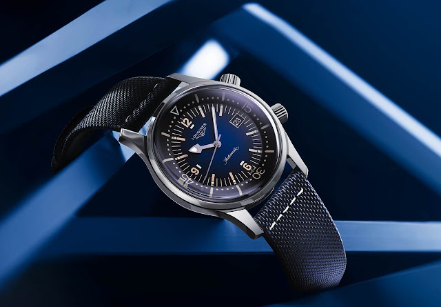 Longines Legend Diver with Blue gradated dial