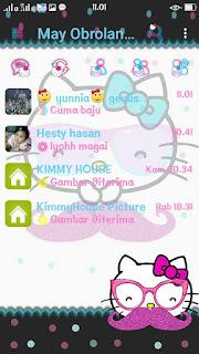 BBM Mod Hello Kitty Polka V3 Apk Terbaru